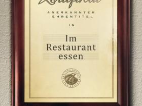 Im Restaurant essen